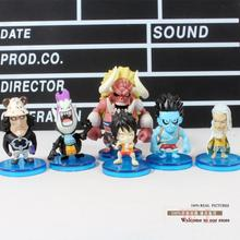 anime figures Luffy Gekko Moria Little Oz Junior Kuma Silvers Rayleigh One Piece Action Figures Toys Dolls 6pcs/set(China)