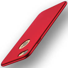 New Fashion Thin Special Edition Red Case For iphone 8 Plus 6 6S 7 Plus 5 SE 5S X Cover Full Protective Shell with Logo Hole