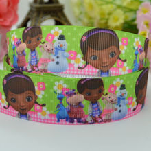 "DUWES 7/8"" 22mm Doc McStuffins Printed grosgrain ribbon,hairbow DIY handmade clothing materials 50yards OEM(China)"