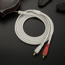Jsj bineme audio cable 3.5mm double lotus cell phone audio computer amplifier speaker