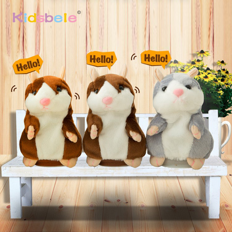 GN Lovely Kids Talking Hamster Mouse Pet Plush Toy Soft Speak Walk Record Doll