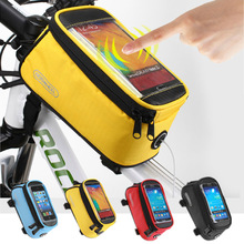 Road Bicycle Bike Bags Touch Screen Cycling Top Front Tube Frame Saddle Bags For 4/4.8/5.5 Cell Phone Cases for IPHONE /redmi 4(China)