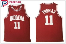 2018 Embroidery Stitched Throwback Basketball Jersey Isiah Thomas #11 1981 Indiana Hoosiers College Jersey Retro Vintage Shirts(China)