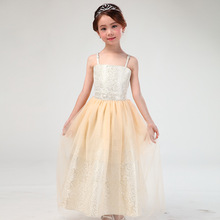teenage little girl evening gown dress summer 2017 maxi long princess flower girls dresses for party and wedding long dress(China)