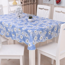 Home Decorative PVC Square Round Tablecloth Waterproof Europe Style Oilproof Bronzing Flower Table Cloth Party Rectangular Cover(China)