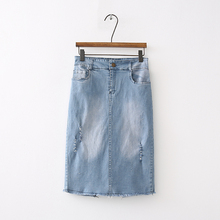 Buy Summer 2018 skirts womens clothing casual denim skirts high waist skirt hole jean skirt for $13.30 in AliExpress store