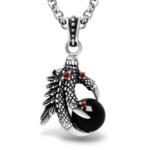 New Design Eagle dragon claw Pendant Neckalce Hot Sale Chinese Version Of The New Retro personality red black Pendant