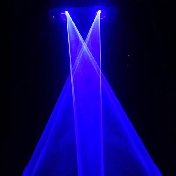 300mW 2 lens Blue 450nm-455nm Beam Laser Stage Light DMX Club Show DJ Bar Party Lighting Laser Lighting DMX DJ Show (3)