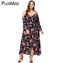 Buy Plus Size 5XL Sexy Cold Shoulder Floral Print Bohemian Dress Women Autumn Spring 2017 Boho Beach Long Maxi Dress Big Size for $16.51 in AliExpress store
