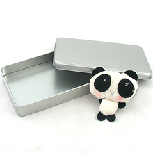 Size:187x103x28mm/Rectangle storage tin home storage kit candy packaging box plain labeling tinsheet(China)
