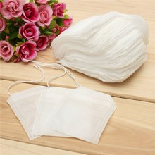 HOT 100Pcs/lot  Biodegraded Tea Filters Tea Bags Corn Fiber  Quadrangle Pyramid Heat Sealing Filter Bags Drinkware 6*8cm