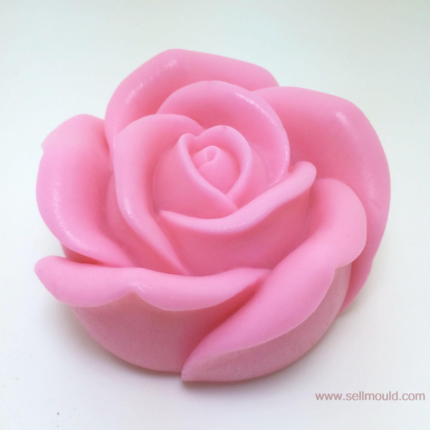3D Rose Soap Silicone Mold Silica Gel Mould Silicon Candle Moulds Decorating Mould Wholesale AX020(China)