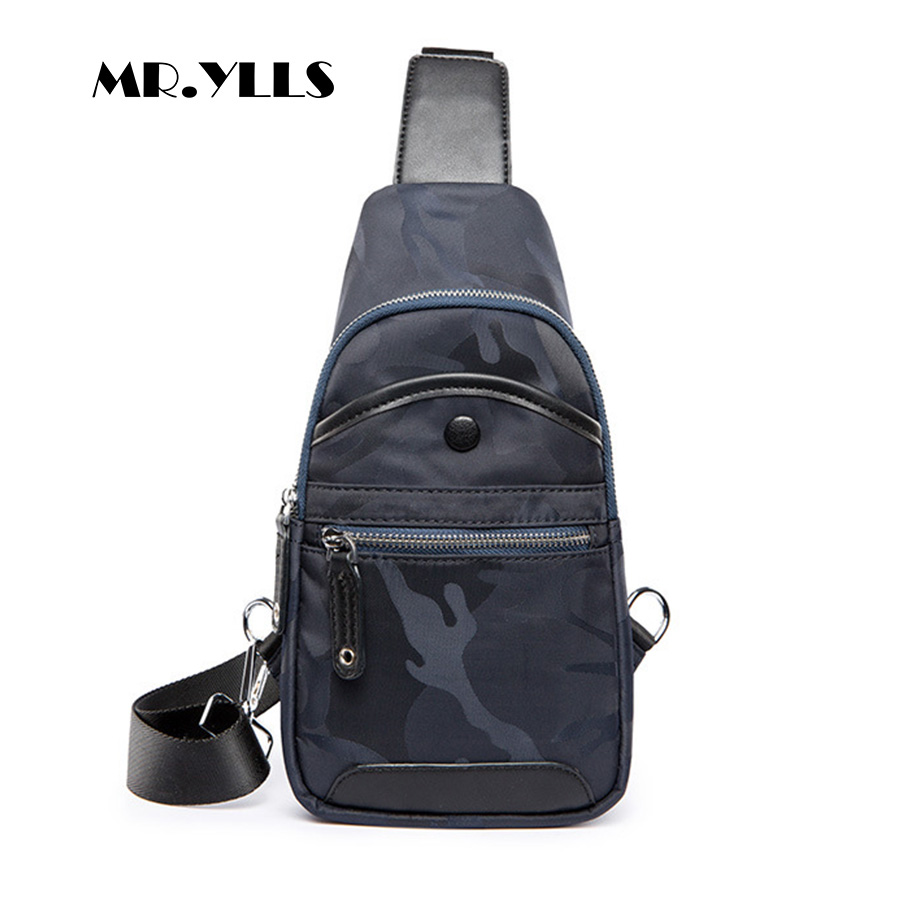 MR.YLLS Camouflage Messenger Bag Men Waterproof Nylon Chest Bags Fashion Soft Crossbody Bag Brand Male Travel Designer 2018 New<br>