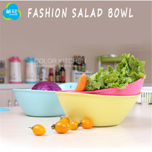 Free High Quality Brand 1 pcs Safety Food-Grade Plastic PP 2.9 liters Salad Bowl Fruits And Vegetables Plastic Mixing Bowl