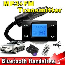 2014 Hot Bluetooth Car Kit MP3 Player FM Transmitter Steering Wheel Remote USB SD MMC Support for iPhone 5s 4 Note 3 Neo N9000