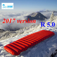JR Gear R 5.0 PrimaLoft ultralight outdoor sleeping pad moistureproof inflatable air mat with TPU flim camping air tube bed(China)