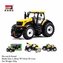 Metal/ Alloy Model Farm Tractor 1/30 Scale Big Size Engineering Farm Tractor Toys Children Days Gifts(China)