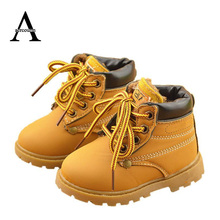 Aercourm A Kids Winter Boots Children Shoes Girls Martin boots Boys Sports Shoes Kids Shoes Girls Sneakers Brown Yellow 21-30