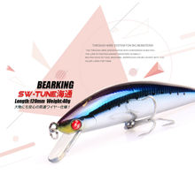 BearKing Retail 2016 Hot model fishing lures,120mm/40g Hard bait minnow, 10 different colors,crank minnow bait pencil popper