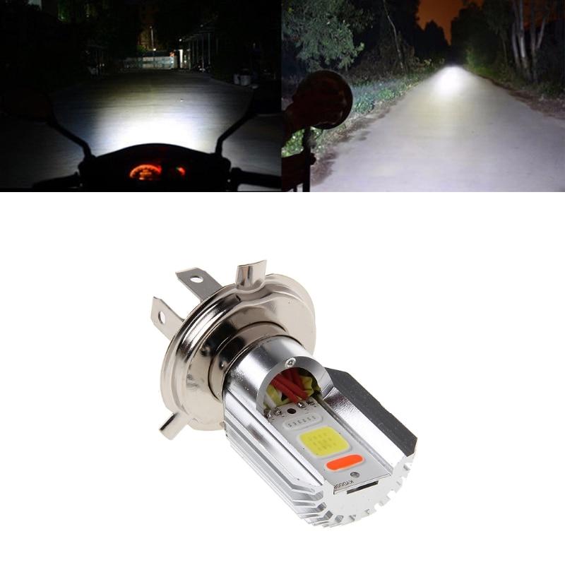 H4 Motorcycle 6500K LED Hi//Lo Beam Headlight Motorbike Front COB Light Bulb Lamp