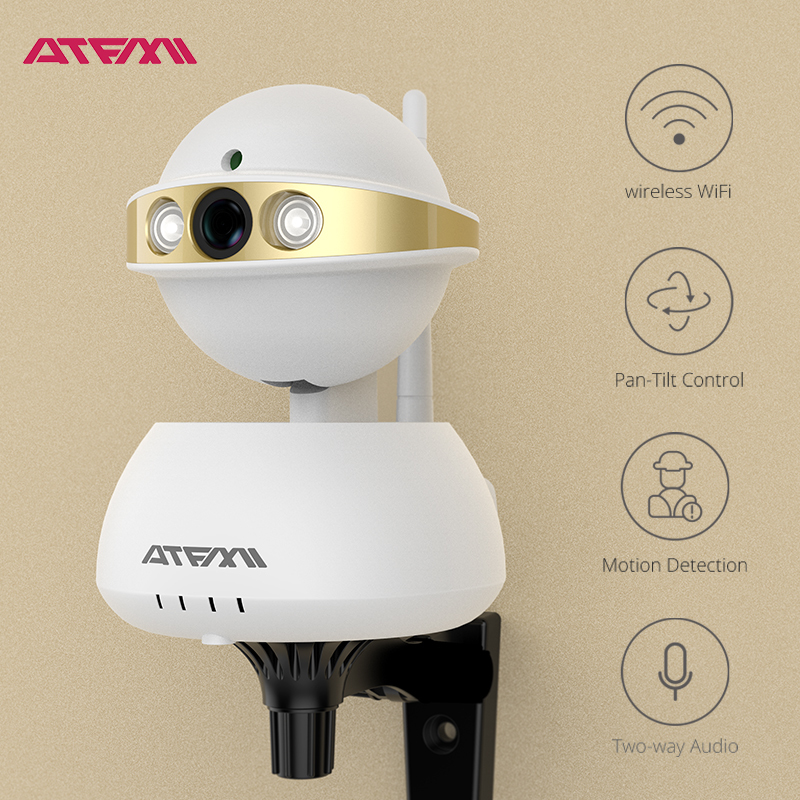 ATFMI T5 720P  IP camera wifi  Night Vision CCTV Home Security Camera record family life with photos and video and enjoy it<br>