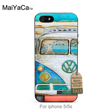 On Sale Luxury Cool Phone Accessories Case For iPhone 5 5s case  Cool Unique Vintage Car Bus in country