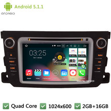 "Quad core Android 5.1.1 2Din 7"" HD 1024*600 Car DVD Player Radio PC Stereo Screen GPS For Mercedes-Benz Smart Fortwo 2011-2014"