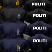 New Dansk Danish Denmark Politi Police Unit logo T-shirt Homme Cool Tops Tee Shirts Plus Size