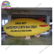 Free Customize 13ft 4m Inflatable PVC Blimp / Airship / Airplane / Helium Balloon / Advertising inflatables