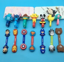 10pcs *Cartoon Cable Winder Silicone Earbud Cable Wire Organizer headphone line winder china post free shipping(China)