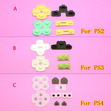 Brand New Soft Rubber Replacement Silicone Conductive Adhesive Button Pad keypads for Sony PS2 PS3 PS4 PlayStation