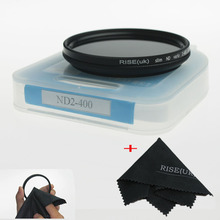 freeshipping RISE(UK) 49mm/52mm/55mm/58mm ND Fader Neutral Density Adjustable Variable Filter ND2 to ND 400 Filter+gift