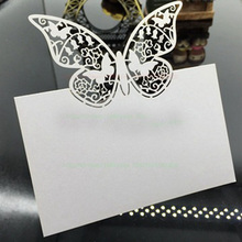 100pcs White/Red/Purple Butterfly Place Cards Guest Name Card Table Decorations Party Craft Birthday Festive Events Supplies