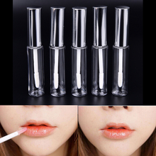 Mini Sample Tools 1Pc Silver 8.5ml AS Lip Balm Cute Bottle Empty Cosmetic Container Tube Travel Gloss High Quality(China)