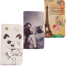 AIYINGE Wallet Design Cell Phone Bag Case Protective PU Leather Printed Cover For Vodafone Smart Speed 6 4.5
