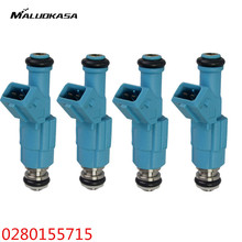 MALUOKASA Flow Automobile Fuel Injector 24lb 0280155715 For Chevrolet Ford Pontiac LS1 LT1 5.0 5.7 250cc 0280150947 0280150965(China)