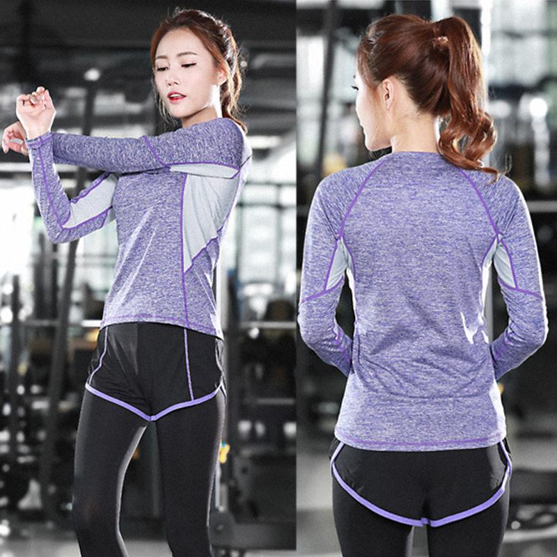 Lumier Professional Yoga Shirt Long Sleeve 9 Types Autumn Fied Quick Drying Running Gym Sport T shirt Women Fitness Tee Top (2)