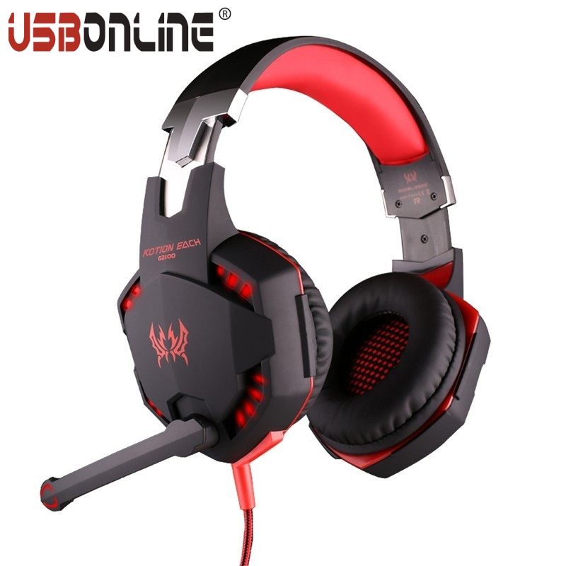 EACH G2100 Gaming Headphone Noise Cancelling Vibration Pro Earphone Hifi Bass Headset With Mic LED Light For PC Gamer<br><br>Aliexpress