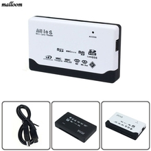 USB 2.0 Card Reader for SD XD MMC MS CF TF Micro SD M2 Adapter Drop shipping(China)