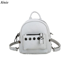 vintage casual rivet small PU leather travel bags high quality new kids fashion women backpacks school bags for teenagers girls#(China)