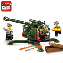 Enlighten Military Series Military High Ground Anti - Aircraft Gun Building Block Compatible With Brand Bricks Kids Toys Gifts