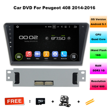 10.2 inch Quad Core Android 5.11 Car DVD GPS Navigation for Peugeot 408 2014 With Radio DVD RDS BT Support DTV OBD DAB+