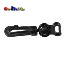 "10pcs Pack 1/2"" Black Plastic Rotary Snap Hook Clips for Bags Backpack Hanging Outdoor Kits #FLC019-B"
