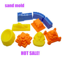 9pcs a set new arrival famous building play sand polymer clay mold kit castle great wall mold set for kids gift mold toys