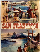 USA San Francisco Vintage Pop Art Travel Poster Classic Retro Kraft Decorative Maps Wall Sticker Home Bar Posters DIY Decor Gift(China)