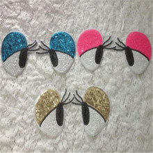 New arrival 1pairEyelash eyes Logo Sequins embroidered Iron On Patches Cute fashion Appliques accessory free shipping(China)