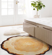 New Design Tree Wooden Stake Ring Carpet Bedroom Living Room Table Mats Household Computer Chair Cushion Bed Rug Blanket(China)