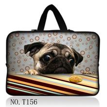 Pug New Neoprene 7/ 10/ 11/ 12 /13 14/ 15/ 17 Inch Laptop Sleeve Bag Handle Bag Netbook Inner Pouch Computer PC bag(China)