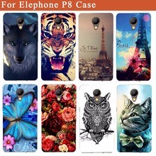 Buy Elephone P8 Cases Cute Cartoon Wolf Tiger Owl Rose Eiffel Towers DIY Print Soft Tpu Case Elephone P8 5.5 Inch Skin Phone Bag for $2.02 in AliExpress store