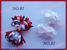free shipping 30pcs 4.5'' Boutique hair bows Boutique Funky Hair Bow mix color girl hair clips(China)